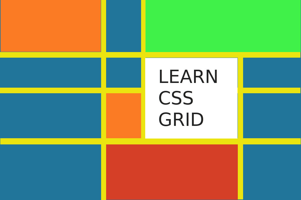 A colorful picture about learning CSS Grid
